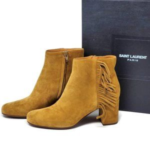 YSL Yves Saint Laurent Ankle Boots Size 37.5 New